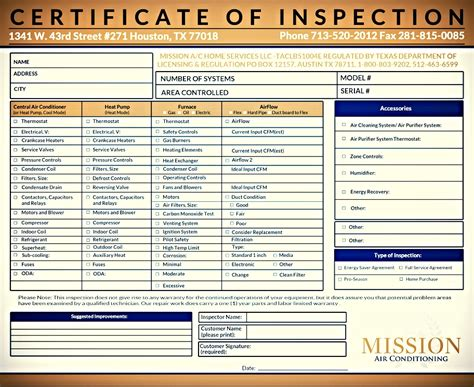 Mission Newsletter March 15 Hvac Start Up Report Template