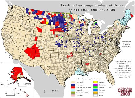third most spoken language by state the most frequently spoken languages at home in the united