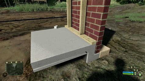 step through construction of a basement