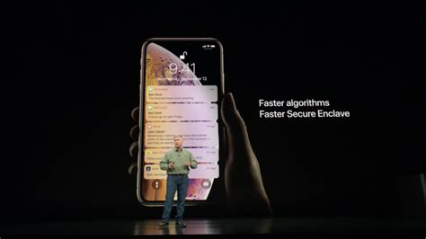 iphone xs and xs max feature faster id authentication