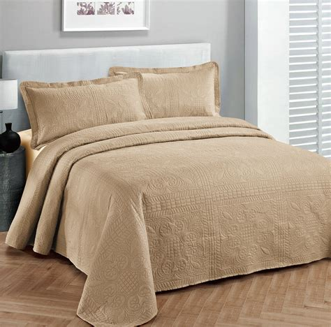 bed covers king size 3 pc solid embossed bedspread bed cover new