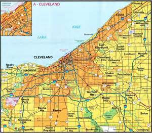 cleveland map free printable maps