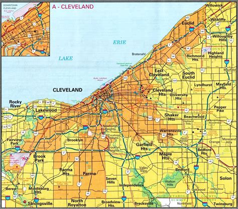 cleveland map cleveland map free printable maps