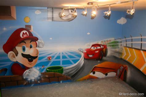 Formidable Decoration Chambre Garcon 8 Ans #6: Fresque-salle-de-jeux-mario-peach-cars-2.jpg