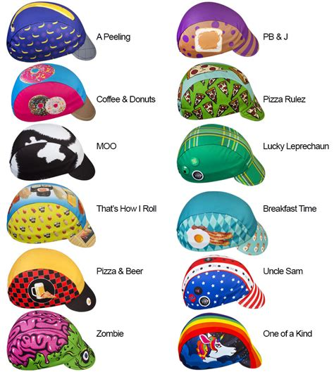 Bicycle Cap aero tech cycling caps rainbow one of a made