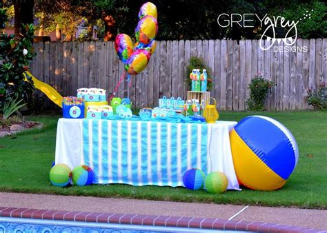 pool party decorations summer pool party summer party ideas photo 1 of 35