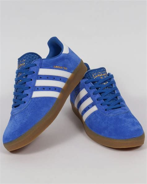 Adidas Blue adidas 350 trainers blue white gum shoes originals mens