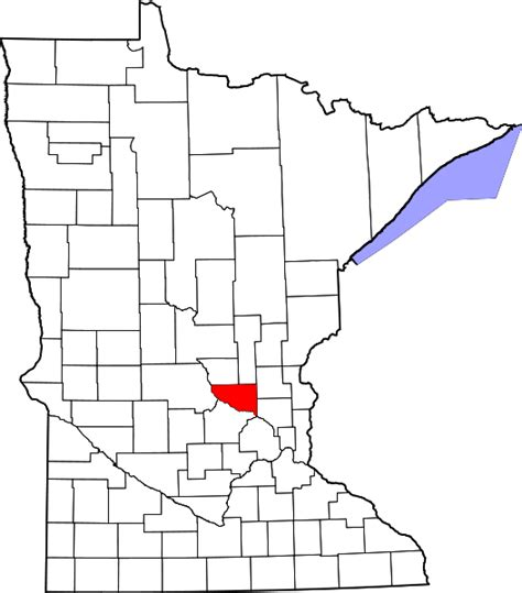 Sherburne County Search File Map Of Minnesota Highlighting Sherburne County Svg Wikimedia Commons