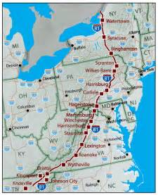 Route 81 Map by I 81 Multi State Corridor Meetings