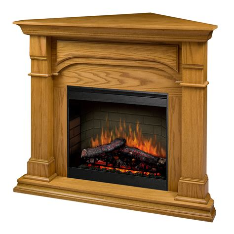 Oak Corner Electric Fireplace by Dimplex Oxford Corner Electric Fireplace In Medium Oak Smp