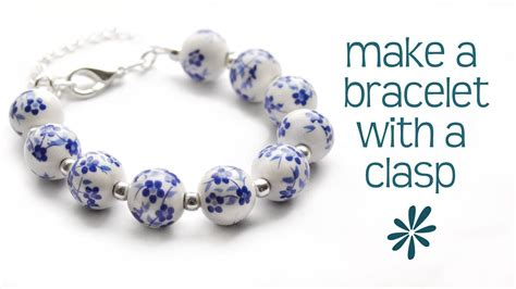 make a jewelry make a beaded bracelet with a clasp jewelry