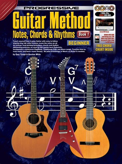 guitar book for beginners teach yourself how to play guitar songs guitar chords theory technique book lessons books progressive guitar method book 1 notes chords and rhythms