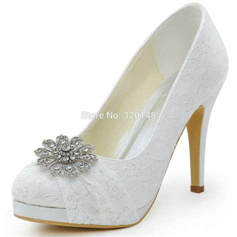 elegantpark hc1413p white wedding shoes closed toe