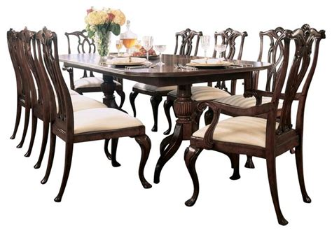 american drew cherry grove dining room set american drew cherry grove 9 piece dining room set in