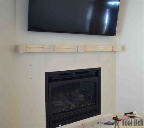 How To Install Fireplace Mantel Shelf by Dress Up The Fireplace Diy Fireplace Mantel Home Diy Fixes