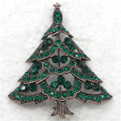 sterling christmas tree copper antique copper tree brooch pin jewelry brooches trees and