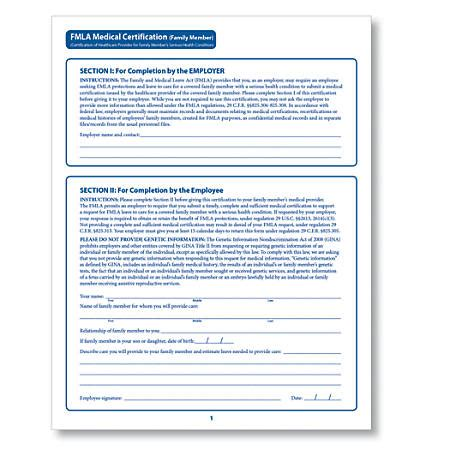 fmla form complyright fmla certification forms family member