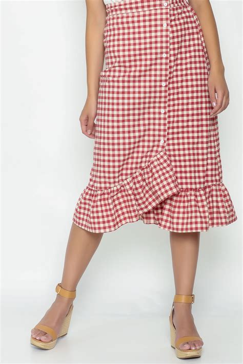 N Bab Skirt Ruffle n a gingham ruffle skirt from mississippi by gypster veil shoptiques
