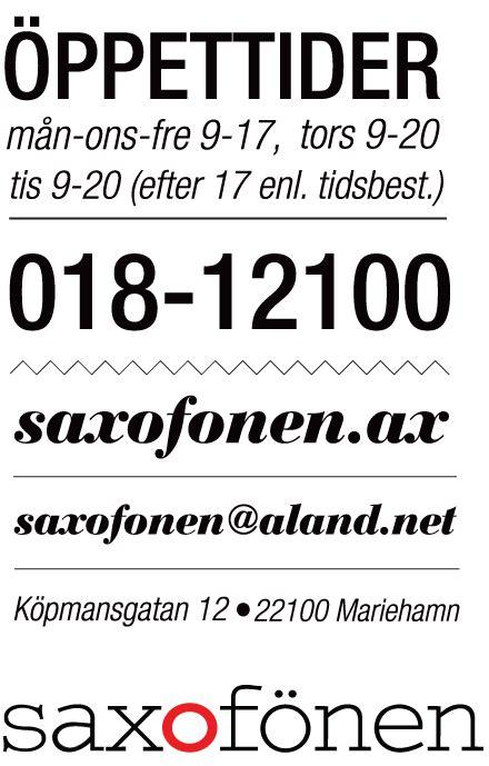 Hårvårdsprodukter by Aland Rekommenderar Saxof 246 Nen