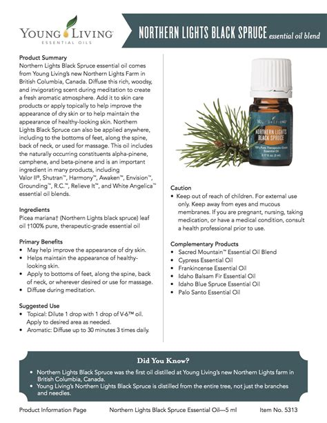 Northern Light Black Spruce 5ml january 2016 promotions the living leaves