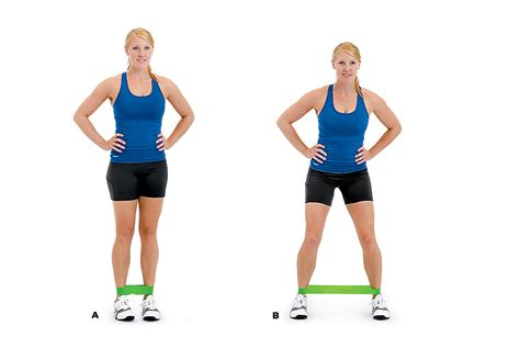 lateral resistor band exercises lateral band walking how to do it a loop a light resistance band around both legs just above