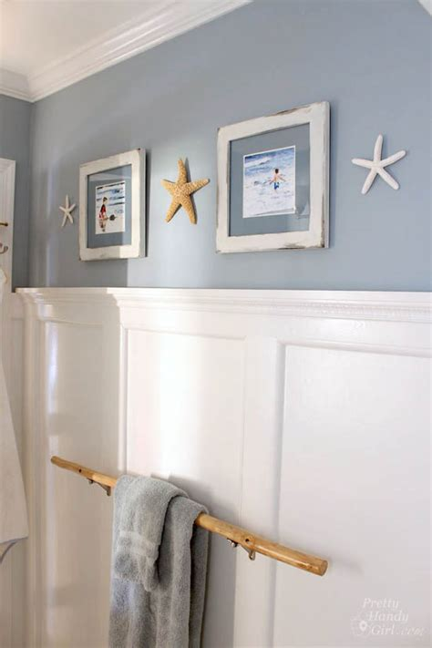 beach hut style bathroom boy s bathroom refresh lowescreator project pretty