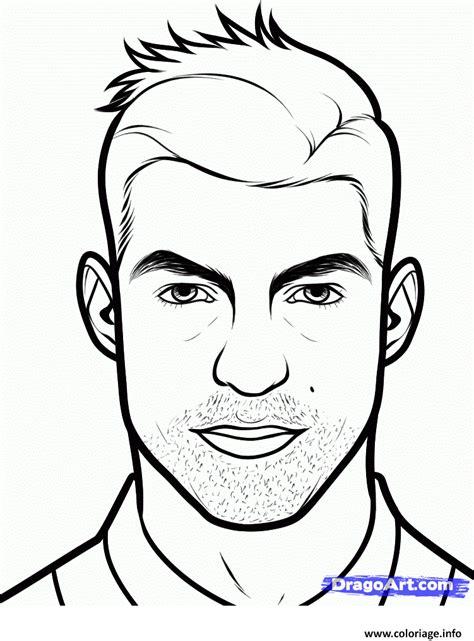 Coloriage Cristiano Ronaldo Cr7 Visage Dessin