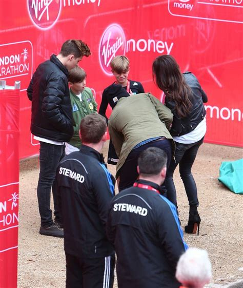 romeo beckham london marathon romeo beckham appears tearful after completing race at