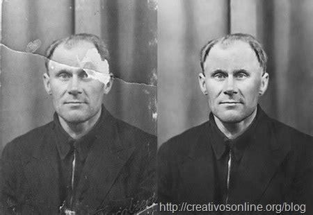 tutorial para restaurar fotografías antiguas deterioradas