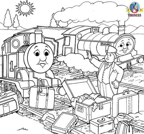 free coloring pages of paint thomas