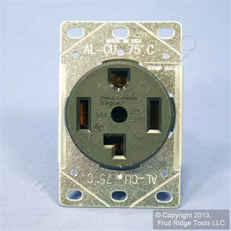 pass seymour 14 30 dryer outlet receptacle nema 14 30r