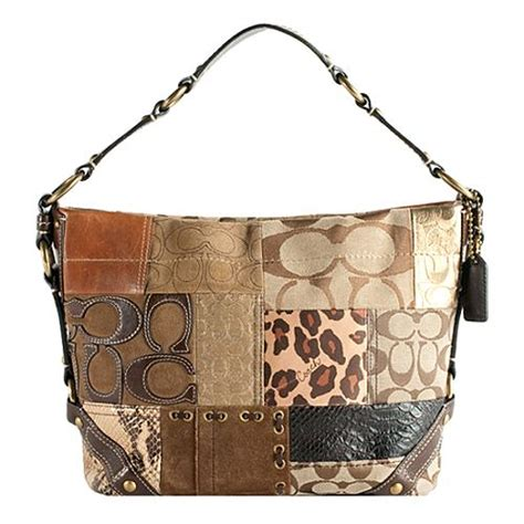 Coach Purse Patchwork - coach fall patchwork hobo handbag