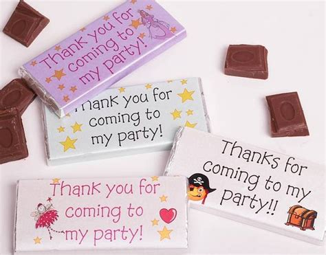 personalised party bag favours by tailored chocolates and