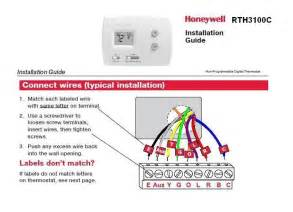 honeywell rth3100c with heil heat doityourself community forums
