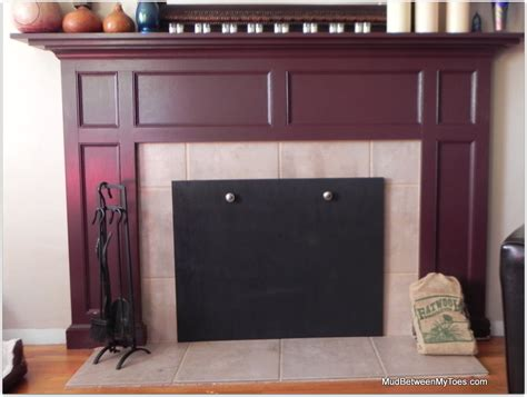 How To Cover A Fireplace With by Fireplace Cover Mud Between Toes