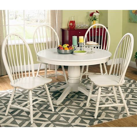 simple living axis 6 dining set with bench simple living 5 pedestal antique white dining