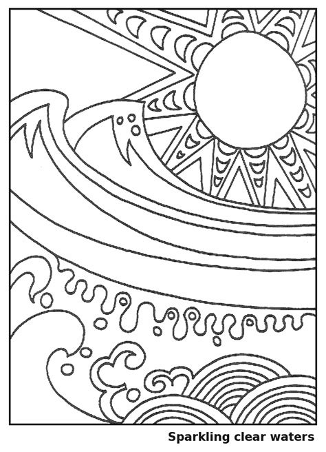 the great wave coloring printable coloring pages