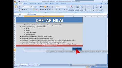 Membuat Database Nilai Siswa Dengan Excel | aplikasi sederhana untuk membuat daftar nilai siswa dengan