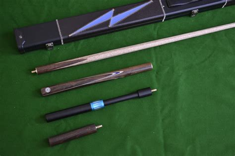 Handmade Snooker Cues - handmade 4 snooker cue set with leather