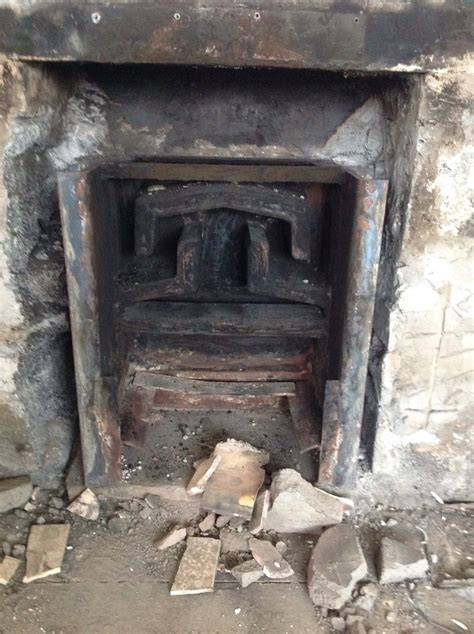 removal of back boiler fireplace chimneys fireplaces