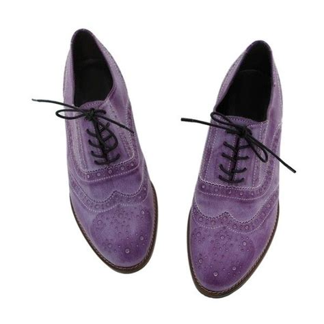 womens purple flat shoes skor oxford 87 liked on polyvore featuring shoes