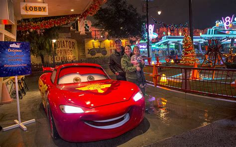 readers cruise into the holidays at disney parks in cars land meet up at disney