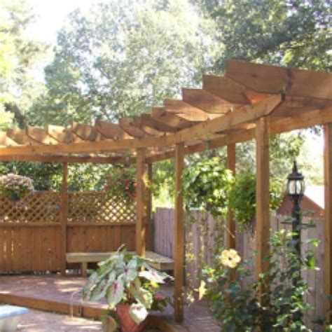 Pergola Idea For Back Fence Line Ideas For My Yard Fence Pergola Designs