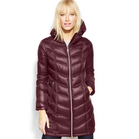Calvin Klein Chevron Quilted Packable Puffer Coat by Calvin Klein Packable Lightweight Jacket For
