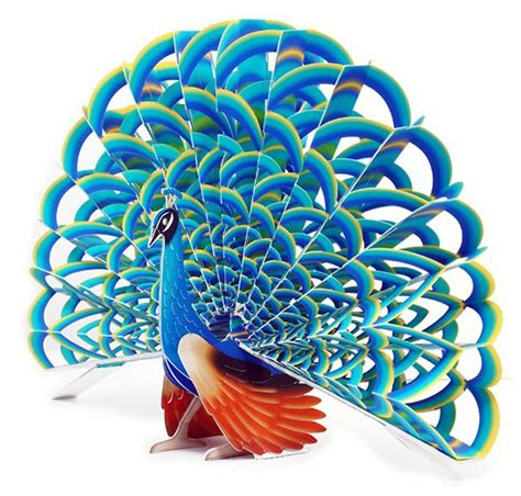 peacock pop up card template sculpture peacocks and pop up on