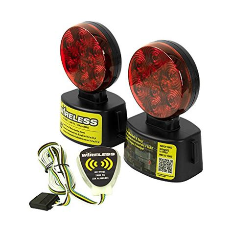 wireless magnetic trailer lights led round wireless magnetic towing light kit red hauling