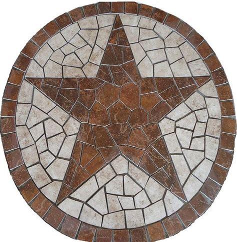 texas star limestone ls square charro texas star mosaic porcelain tile medallion
