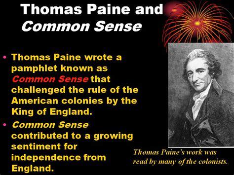 Paine Common Sense Essay by Paine Common Sense Essay Essay On Common Sense