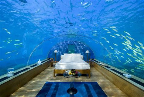 underwater bedroom in maldives if you are bored with traditiona