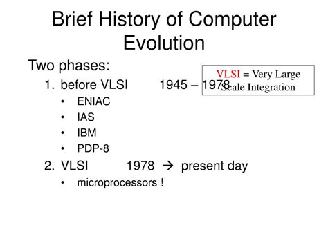 brief history of computer ppt computer organization and architecture powerpoint presentation id 780998